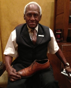 The Shoeshine Man at the Roosevelt Hotel. We all walked past him at some point during the conference, but how many of us slowed down and stopped to talk to him to hear his story?  Photo credit:  Kathleen Hennessy, pictureWORLDhope