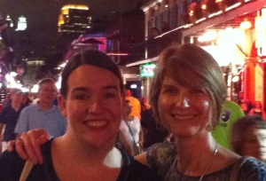 Suzanne Doig (left) and Avalee Wier on Bourbon St.
